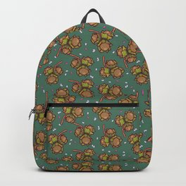 Crunchy nuts pattern Backpack