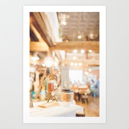 Coffee Shop and Camera Art Print