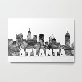 Atlanta Skyline BG2 Metal Print