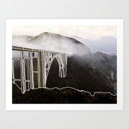Line Series - Bixby Bridge, Big Sur, Califonria Art Print