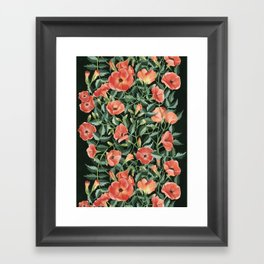 Campsis love Framed Art Print