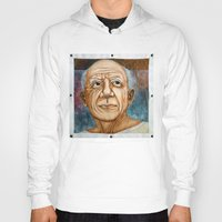pablo picasso Hoodies featuring Pablo Picasso by Michael Cu Fua