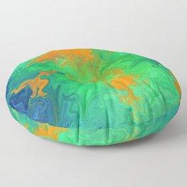 Marble No6, Water Flowers Floor Pillow