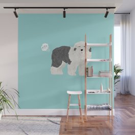 old english sheepdog farting dog cute funny dog gifts pure breed dogs Wall Mural