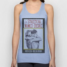 A STREETCAR NAMED DESIRE hand drawn movie poster in pencil Unisex Tank Top