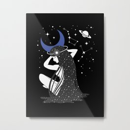 The Goddess of the Night Metal Print