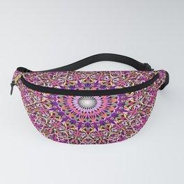 Colorful Girly Lace Garden Mandala Fanny Pack