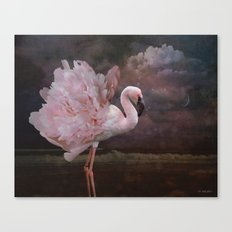 If a flamingo became a peony Canvas Print