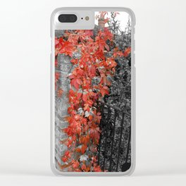 Autumn Spread Clear iPhone Case