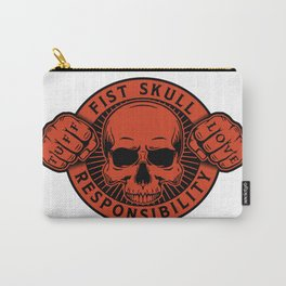 Black/Red Emblem Carry-All Pouch