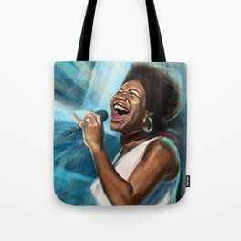 Aretha Franklin Still Sings Tote Bag