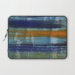 Yellow-blue abstract art Laptop Sleeve