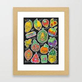 Fruity Hero by BKK BROS. Framed Art Print