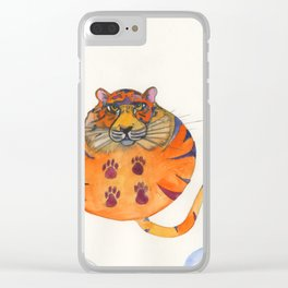 Tiger In The Sky Clear iPhone Case
