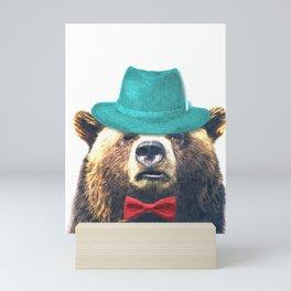 Funny Bear Illustration Mini Art Print