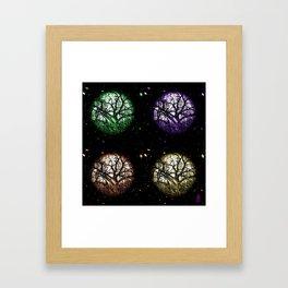 Tree Planets Framed Art Print