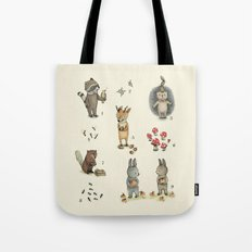 Numbers, Animals and numbers. Tote Bag