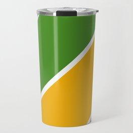 Colorful Diagonal Stripes Travel Mug