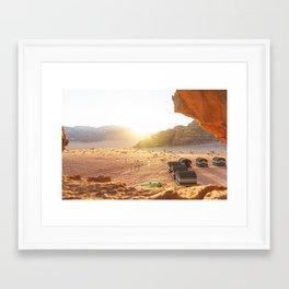 Golden Sunset in Wadi Rum, Jordan Framed Art Print