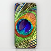 peacock feather iPhone & iPod Skins featuring peacock feather by mark ashkenazi