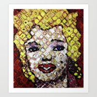 marylin monroe Art Prints featuring MARYLIN MONROE by JANUARY FROST