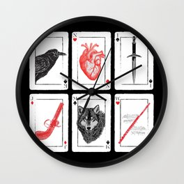 Six Of Crows - Red Wall Clock