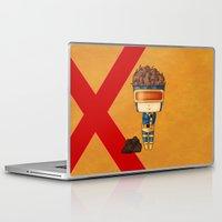 cyclops Laptop & iPad Skins featuring Chibi Cyclops by artwaste