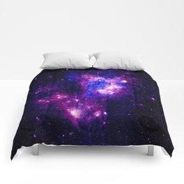 nebulA. Fuchsia Purple Blue Comforters