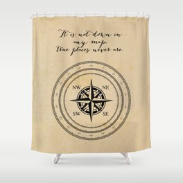 Moby Dick - Herman Melville - True Places Shower Curtain