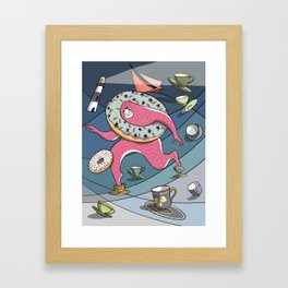 Bigfoot Big Toes in a Teacup in a Storm Framed Art Print