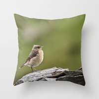 sparrow Throw Pillows featuring Sparrow by Distilled Designs