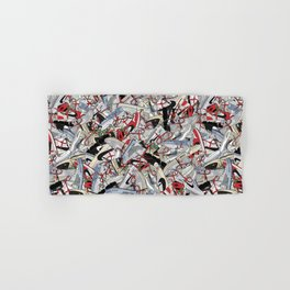 """Off-White """"The Ten"""" Sneaker Collage Print Hand & Bath Towel"""