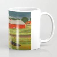 farm Mugs featuring Farm by ArtSchool