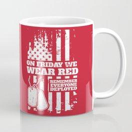 On Fridays We Wear Red Dog Tags Coffee Mug