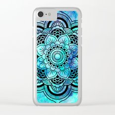 Galaxy Mandala Aqua Indigo Clear iPhone Case