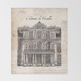 Chateaux de Versailles Throw Blanket