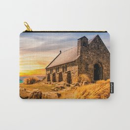 Old Stone Church on Colorful Landscape Carry-All Pouch