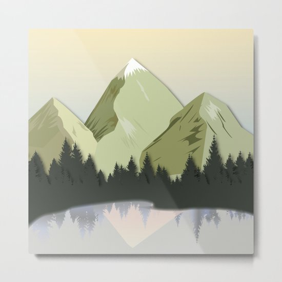 Night Mountains No. 20 Metal Print