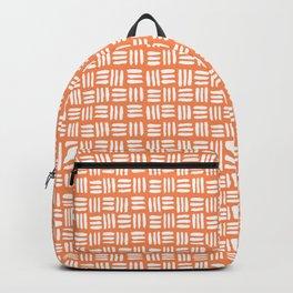 Orange and White Tribal Backpack