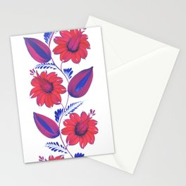 "Flowers, ""Petrykivka"" Stationery Cards"
