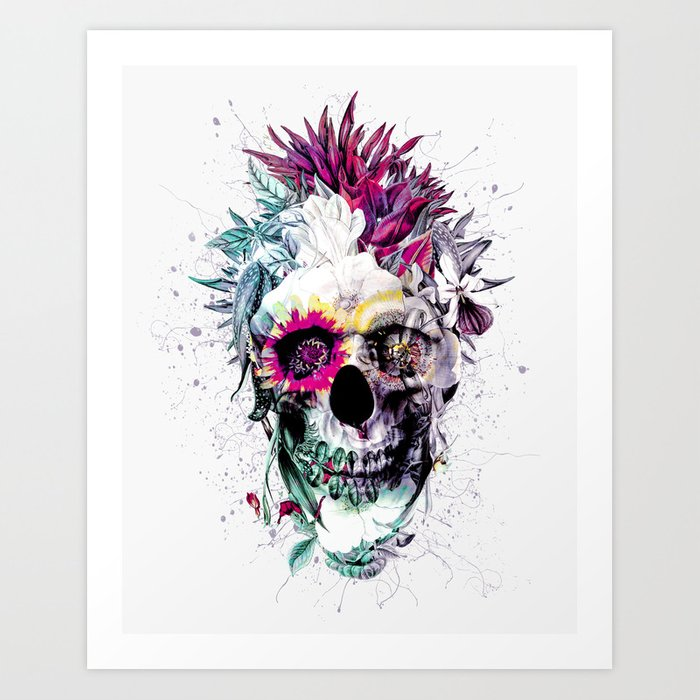 Skull Punk IV Art Print