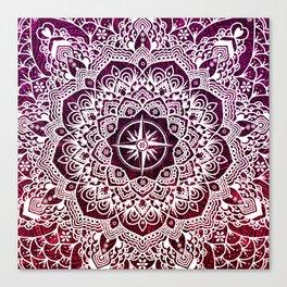 Voyaging Spirit Purple Red Mandala Canvas Print