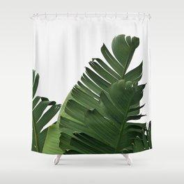 Minimal Banana Leaves Shower Curtain