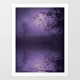 SONG OF THE NIGHTBIRD - LAVENDER Art Print