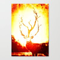 stag Canvas Prints featuring STAG by Chrisb Marquez