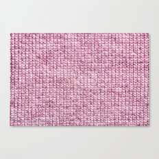 knitted pink Canvas Print