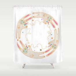 Rabbit Moon Shower Curtain