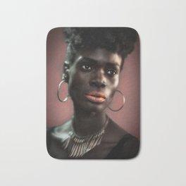 Portrait of a Black Beauty Bath Mat