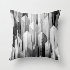 obelisk posture (monochrome series) Throw Pillow