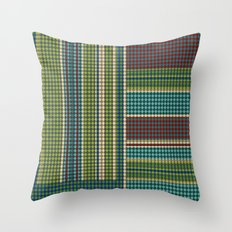 Green vintage Throw Pillow